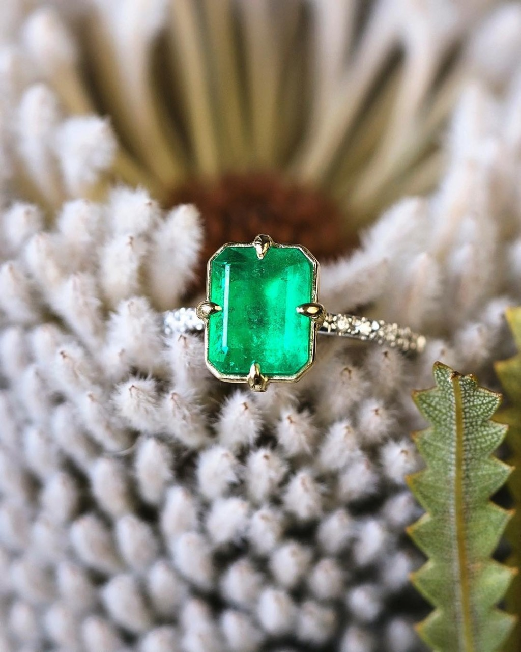 The Perfect Dainty and Fine Vintage Emerald Engagement Ring