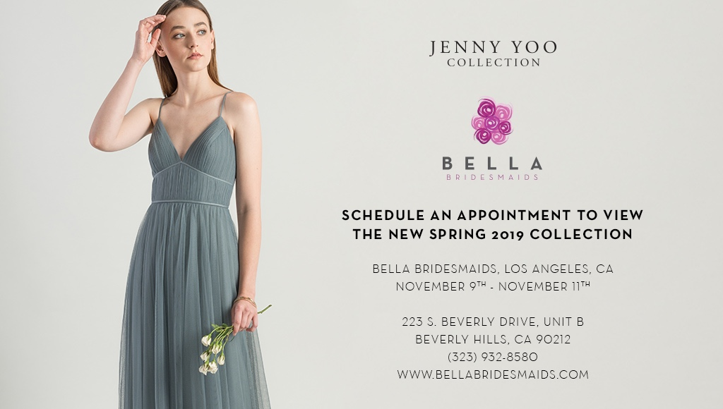 JENNY YOO COLLECTION TRUNK SHOW AT BELLA BRIDESMAIDS LA