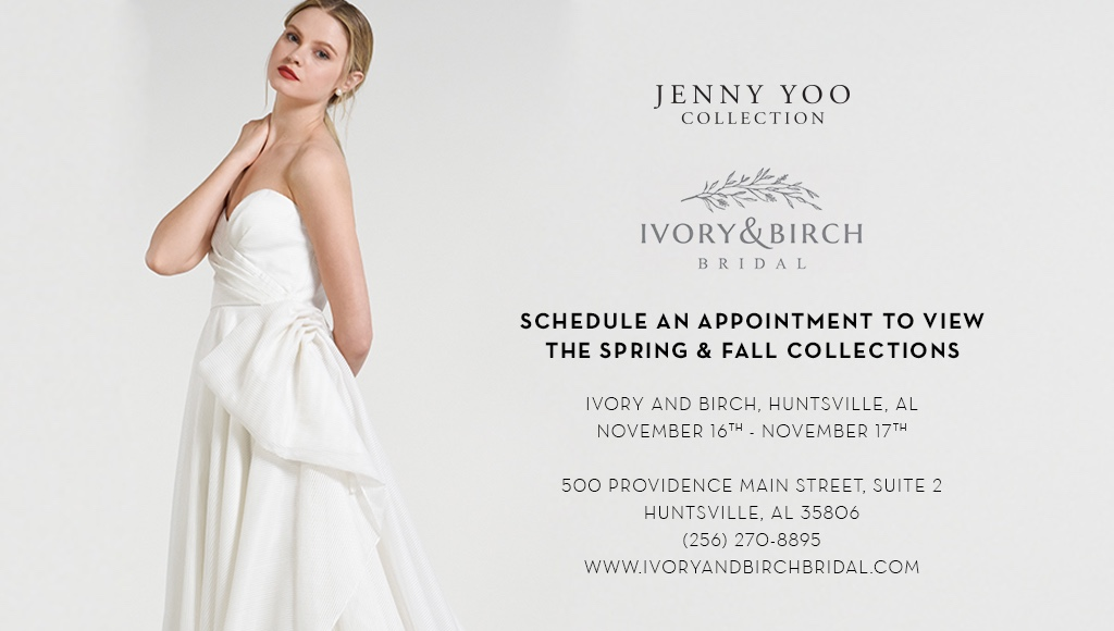 JENNY YOO COLLECTION TRUNK SHOW AT IVORY AND BIRCH