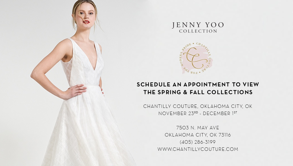 JENNY YOO COLLECTION TRUNK SHOW AT CHANTILLY COUTURE