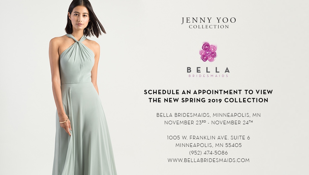 JENNY YOO COLLECTION TRUNK SHOW AT BELLA BRIDESMAIDS MINNEAPOLIS