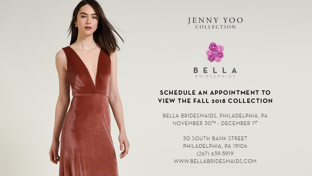 JENNY YOO COLLECTION TRUNKS SHOW AT BELLA BRIDESMAIDS PHILADELPHIA
