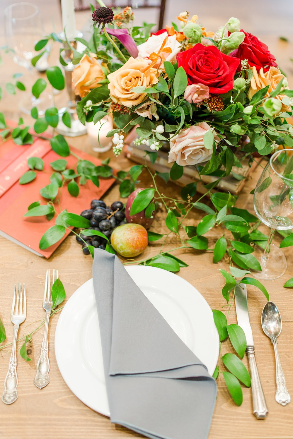subtle beauty and the beast table decor