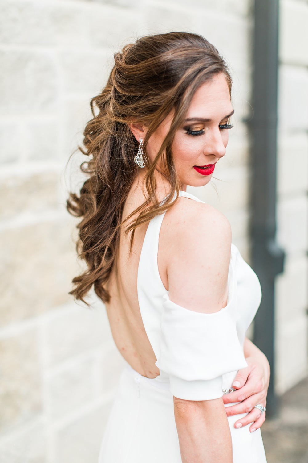 bridal style with half up hair