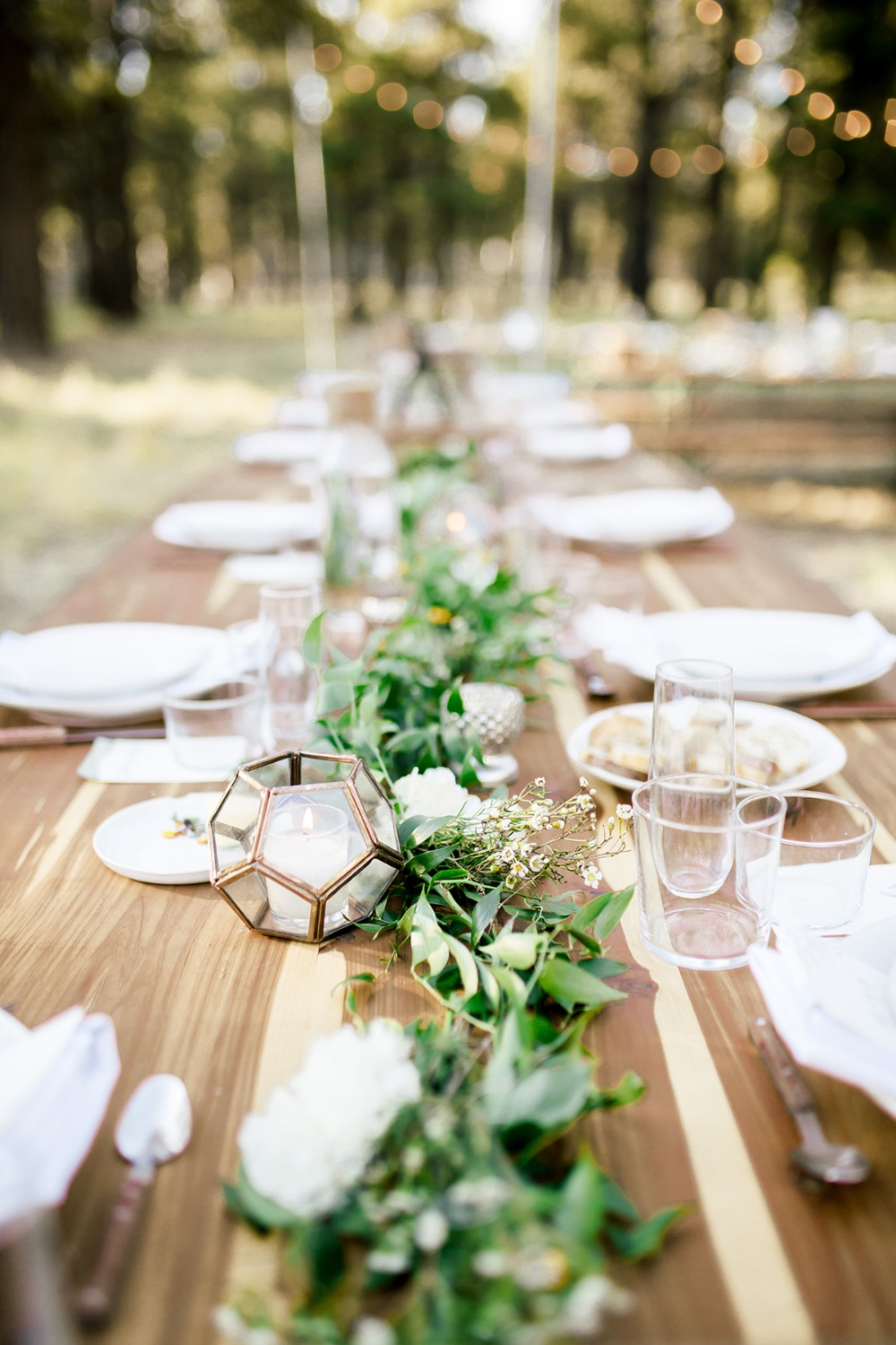 Greenery table centerpiece