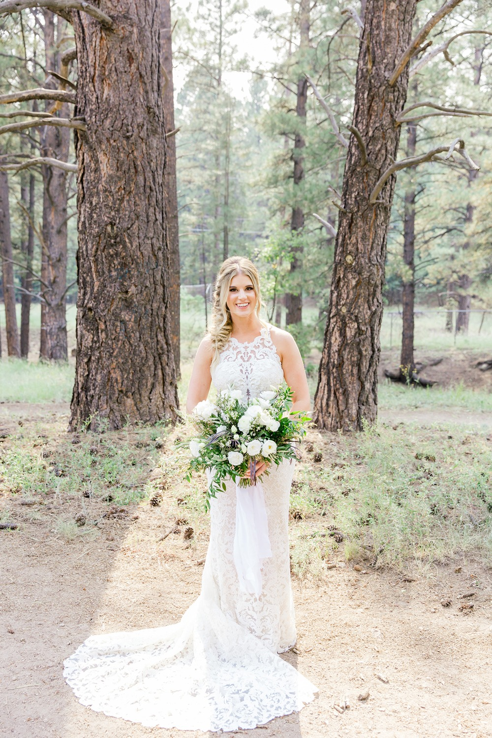 Chic boho bridal look