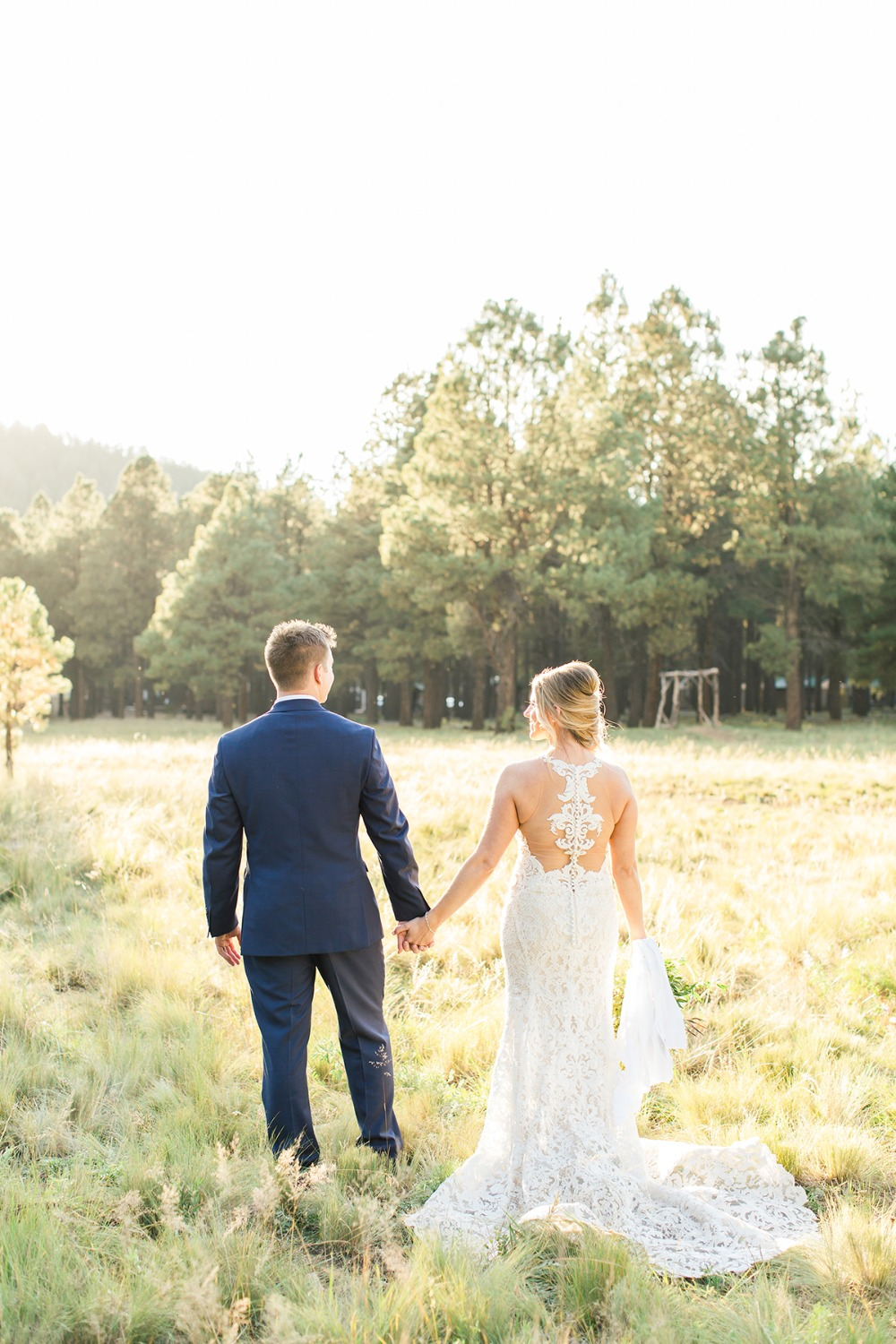 Beautiful Arizona pines wedding