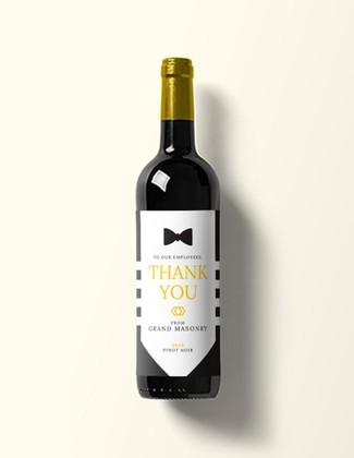 Custom Black Tie Wine Label