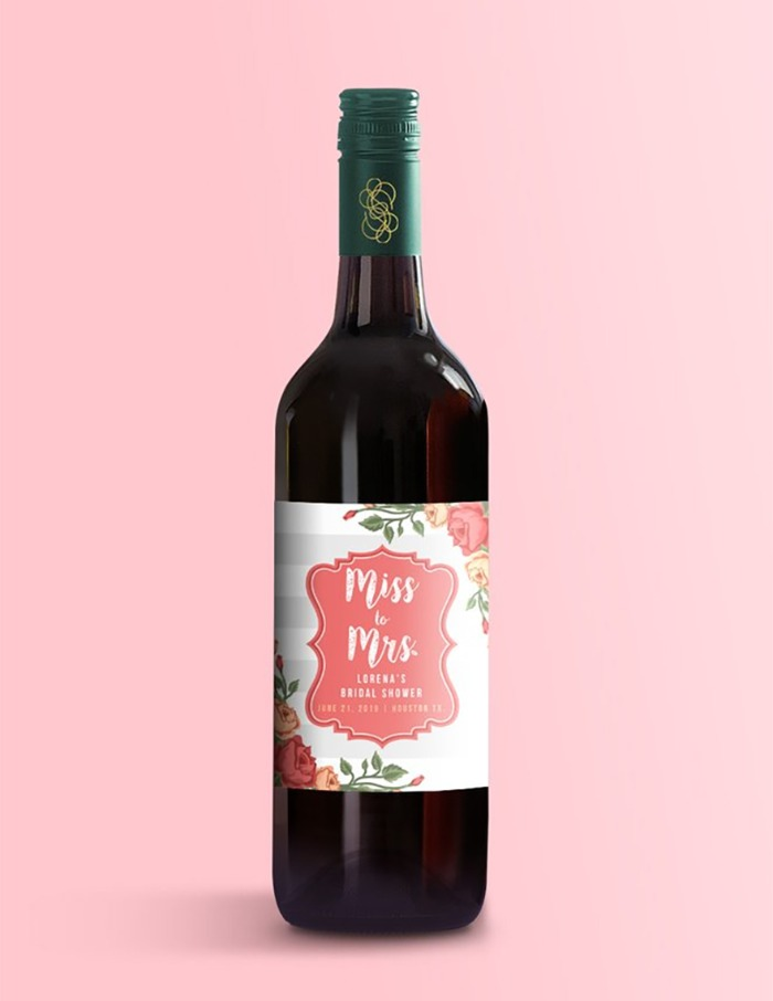 Bridal Shower Custom Wine Label