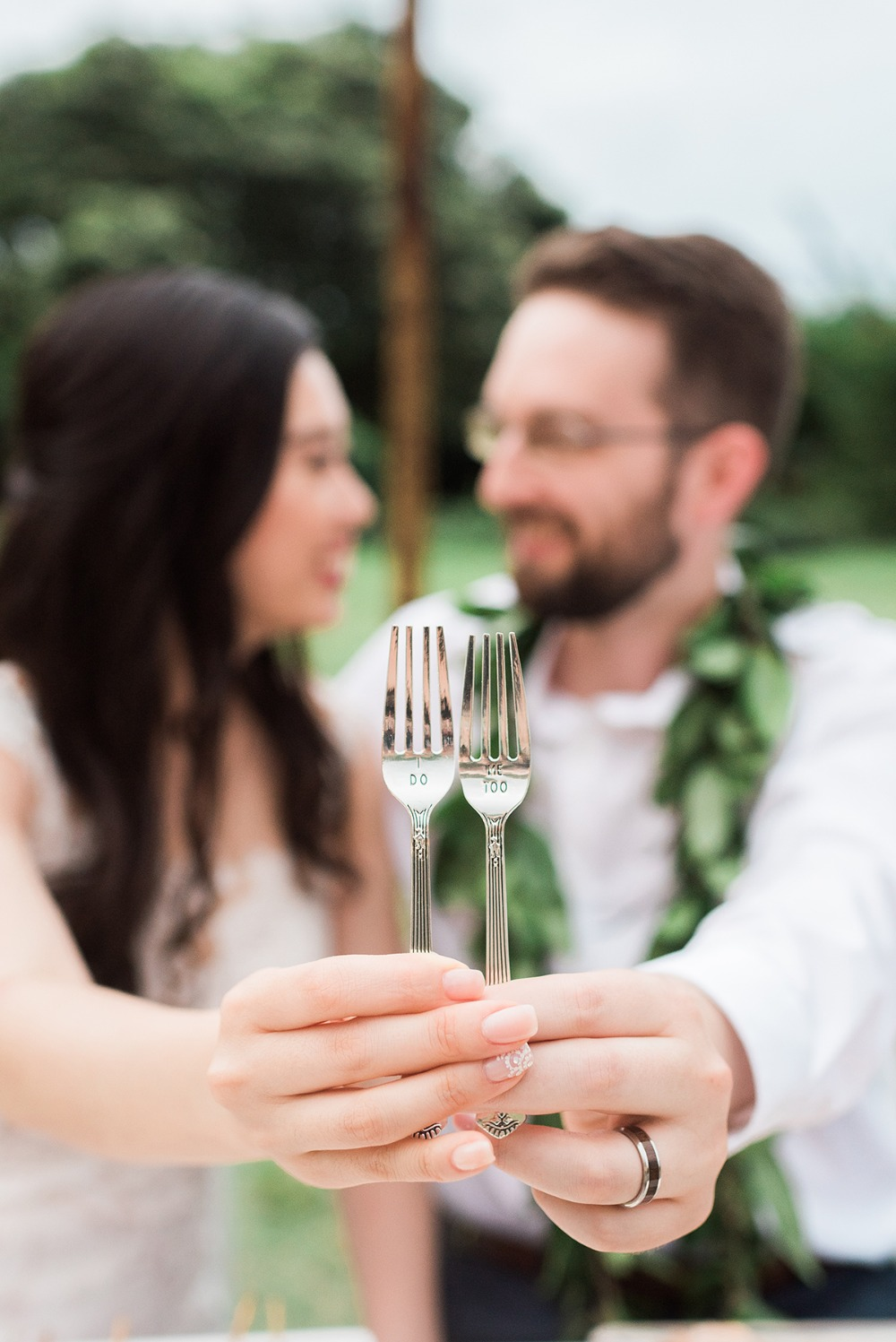 i do me too wedding forks