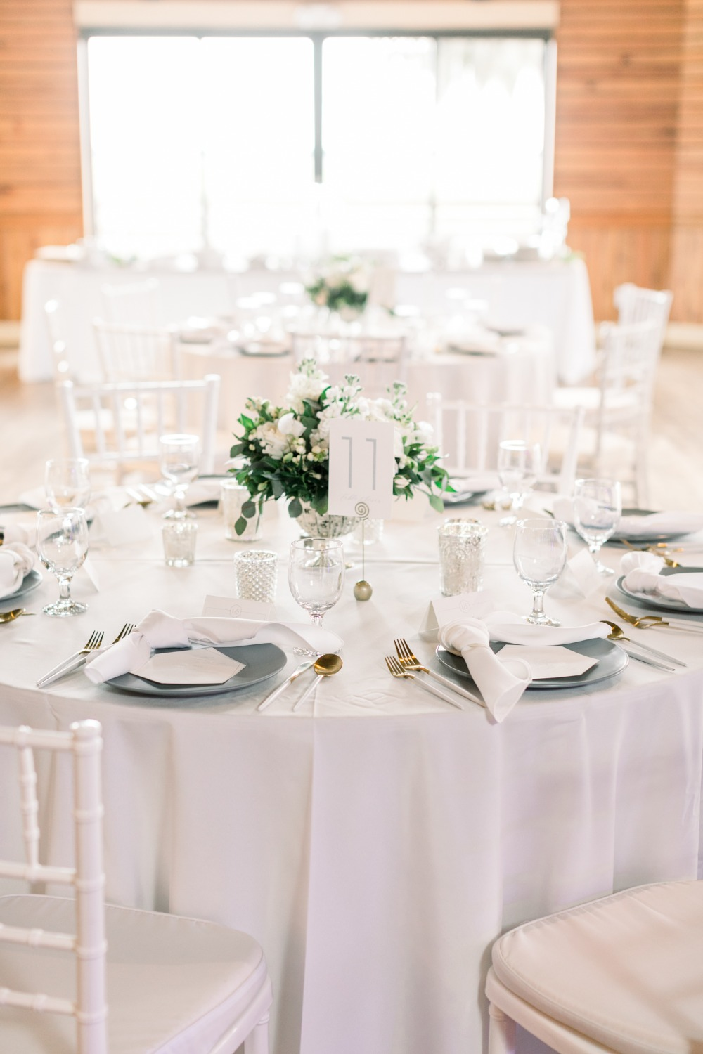 White and silver reception