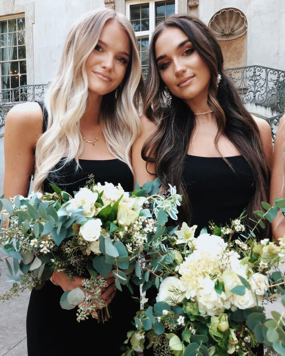 bridesmaids-in-black-belinda-dress-from-showmeyour