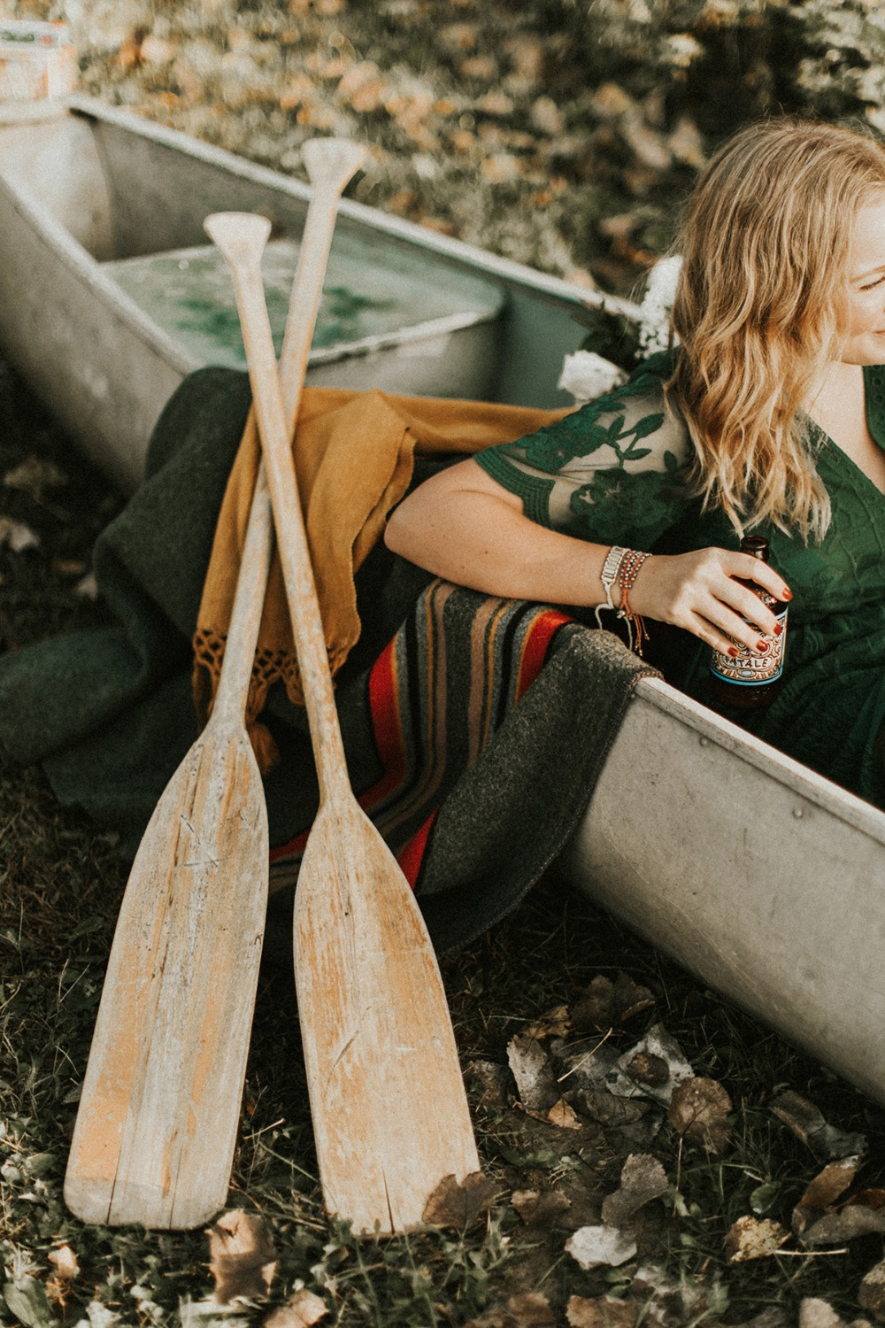 canoe engagement photos