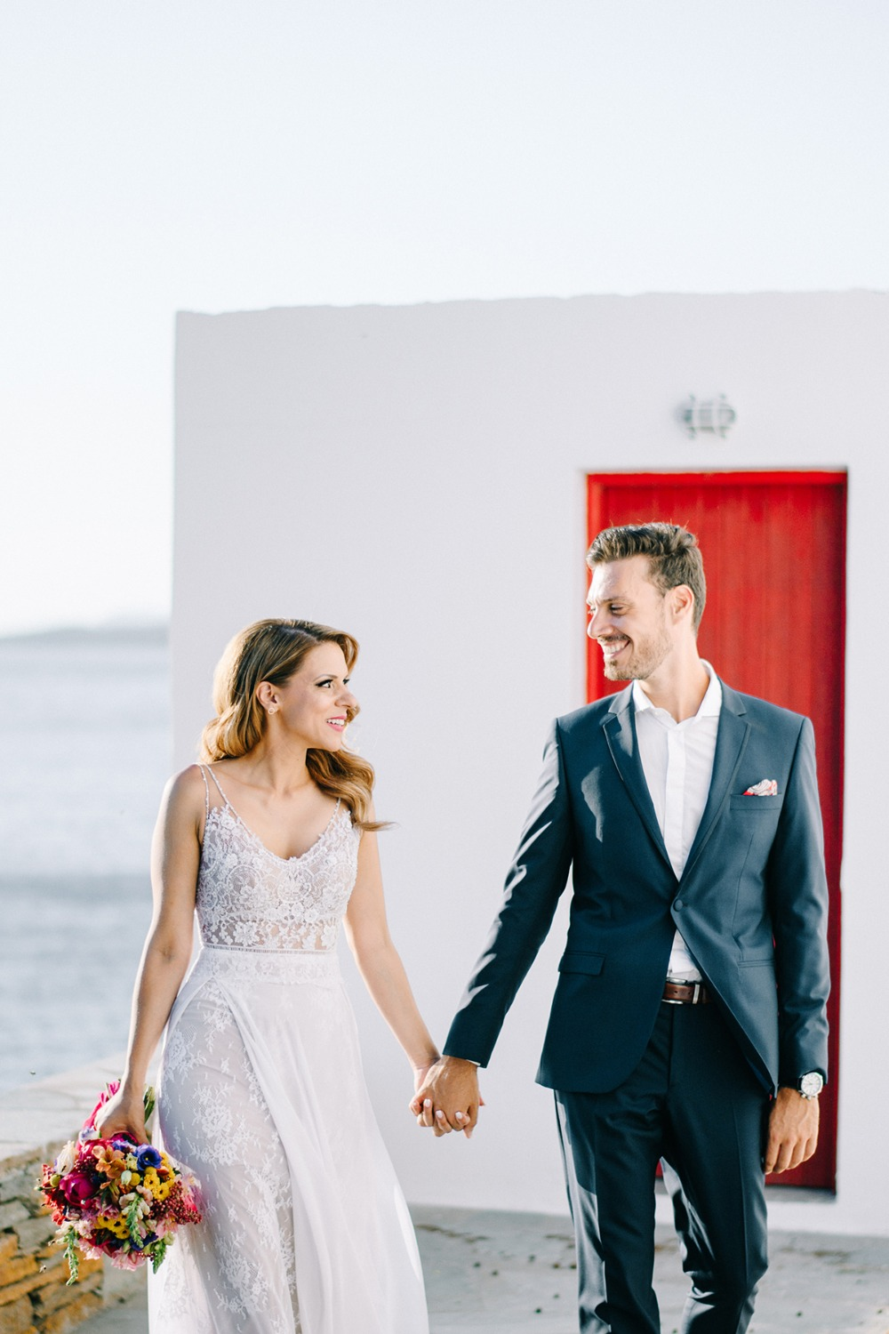 wedding couple in the Greek Isles