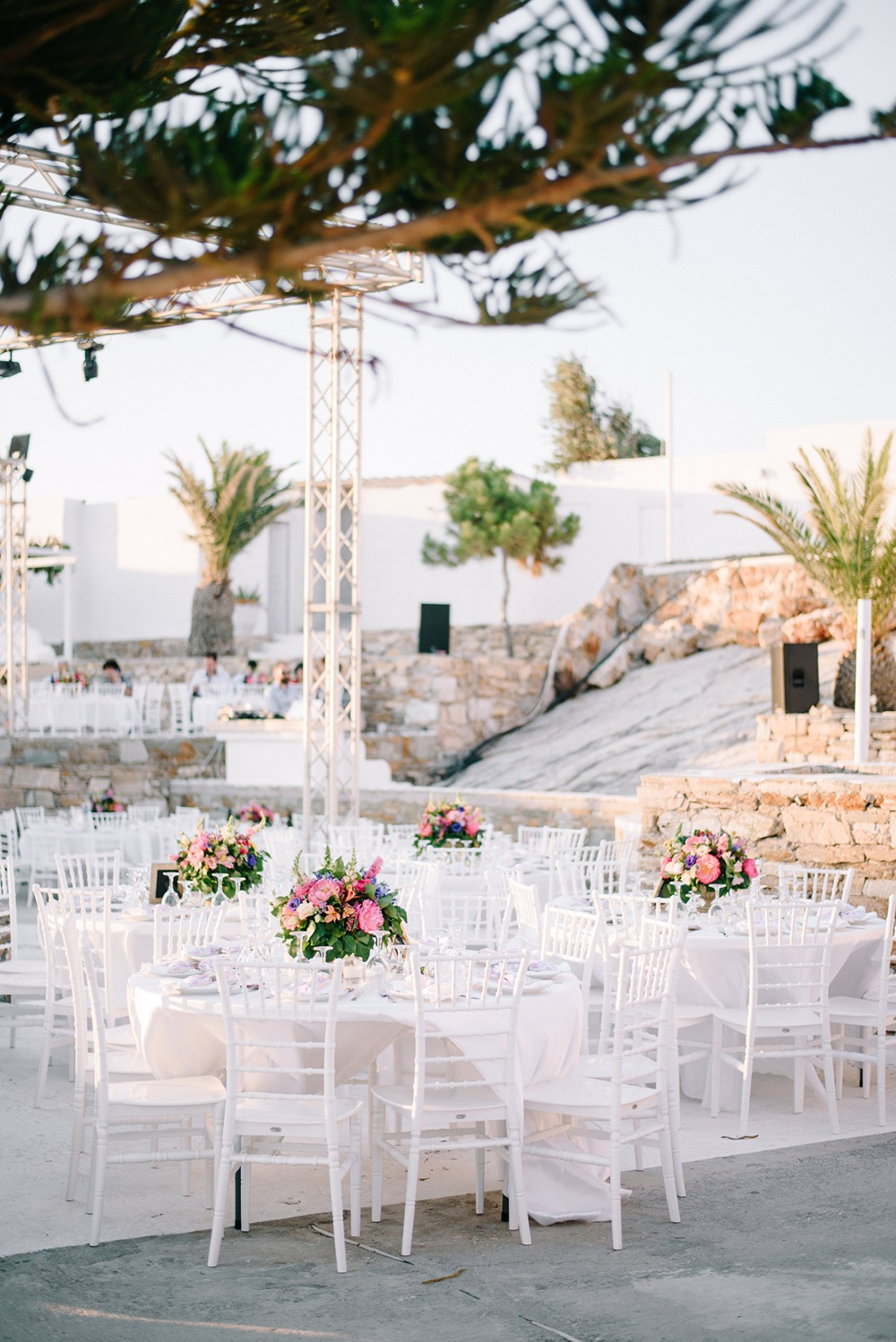 wedding reception in Greece