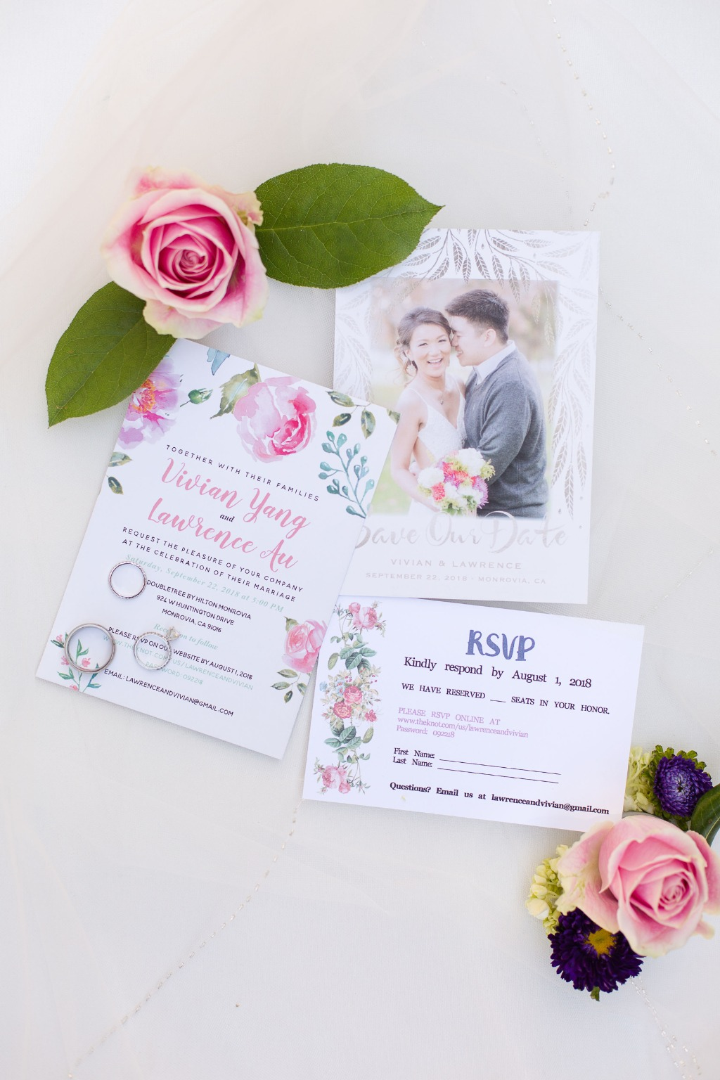 Wedding tip: Having extra prints of your invitations and save the dates makes for beautiful photographs that you can look back on.