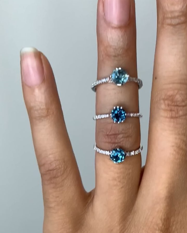 💙💎🌀 A few of our Favorite Locally Sourced Montana Sapphires 💙💙💙