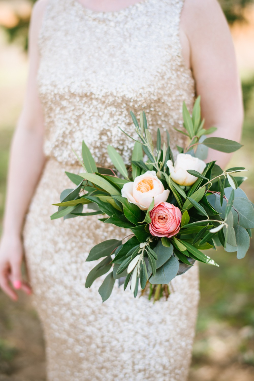 A Blush And Silver Wedding With Plenty of Greenery