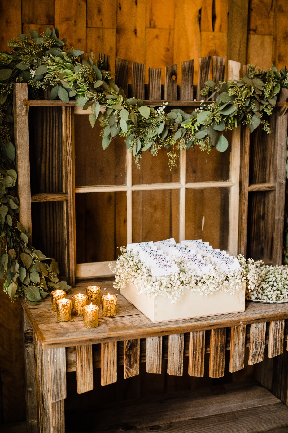 DIY Reception Details Escort Card Display