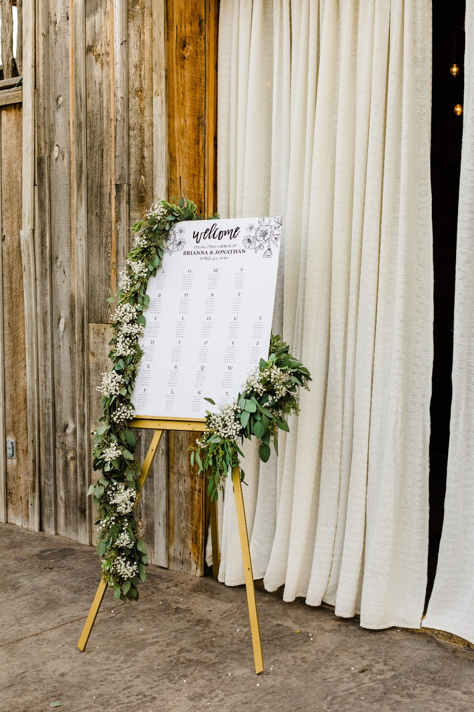 DIY Wedding Reception Details Seating Chart