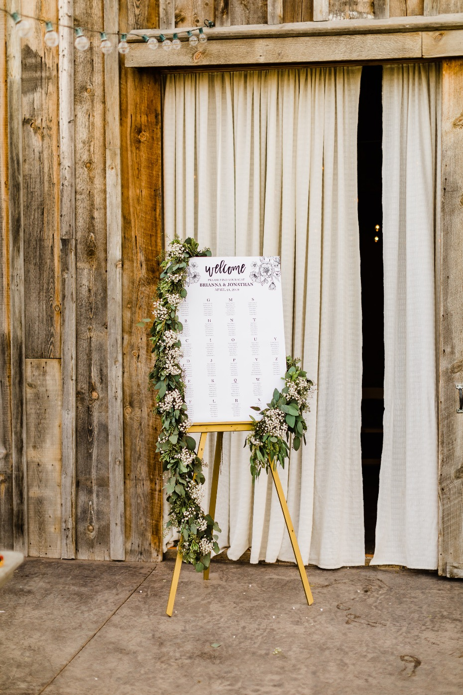 DIY Wedding Reception Seating Chart