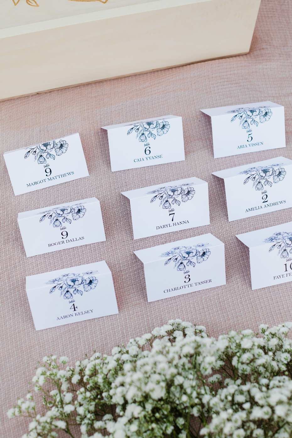 DIY Botanical Escort Cards