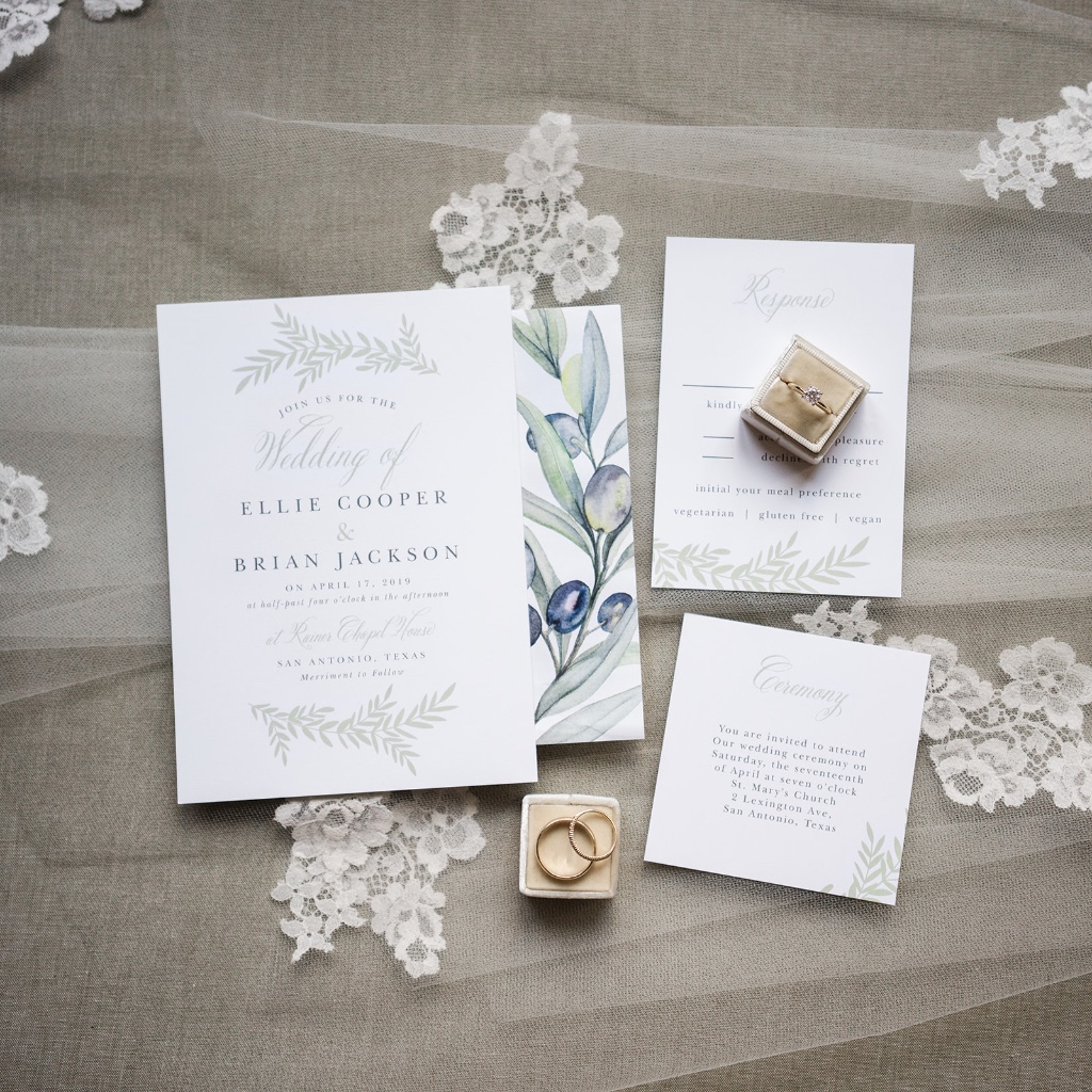 Our Blissful Boughs Wedding Suite is delicate and simple, perfect for any season!