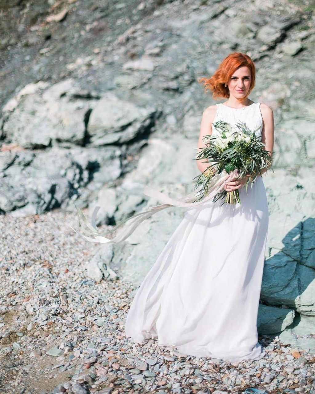 ▪Spotted bride to be captured by the sea in Greece, somewhere between myth and beauty by