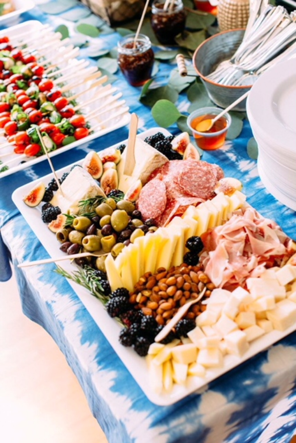 What better way to feed your guests at a bridal shower or cocktail hour than to provide beautiful Cheese Plates & Catering. Our