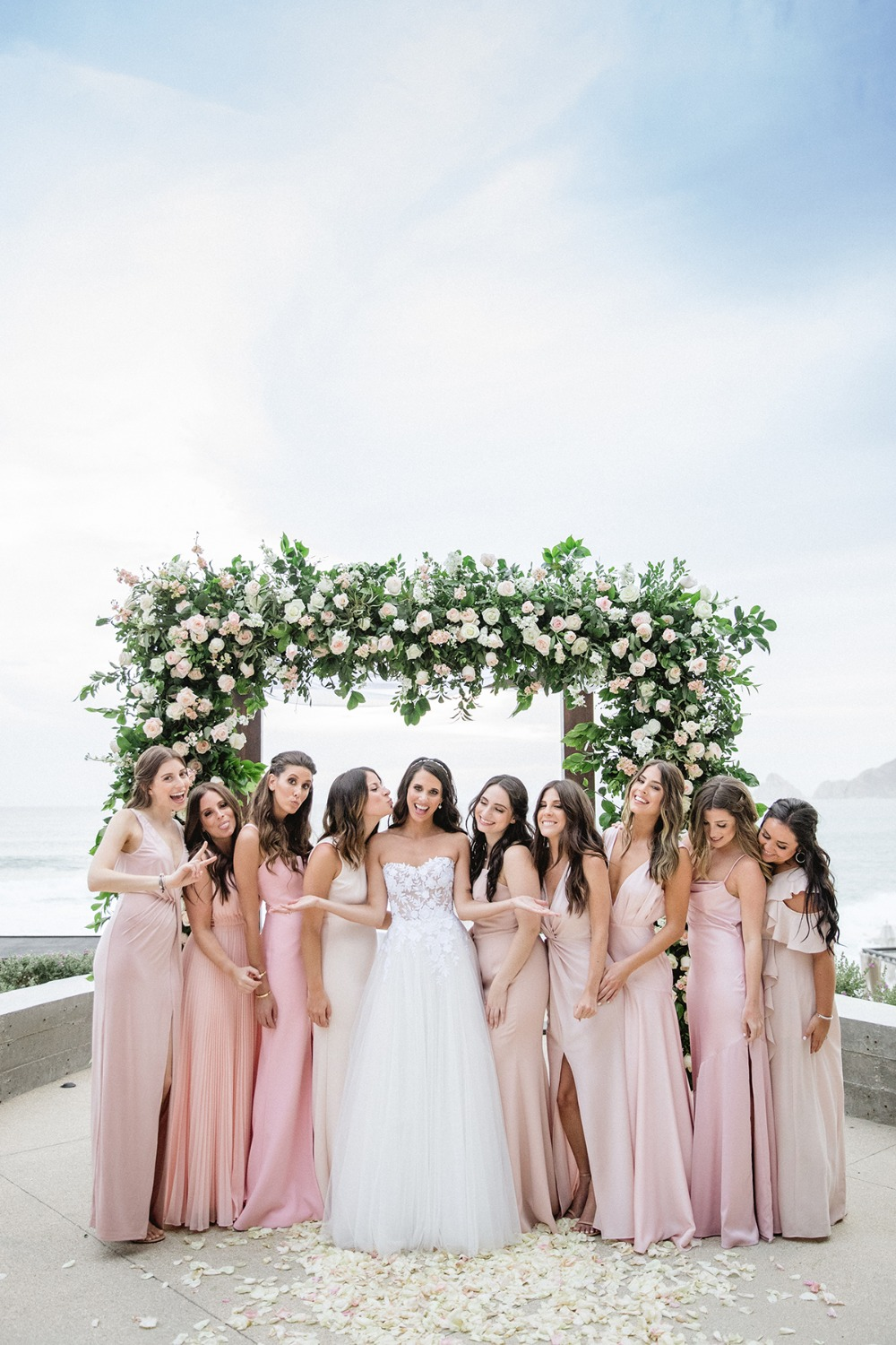 A Chic Black and Pink Wedding in Cabo