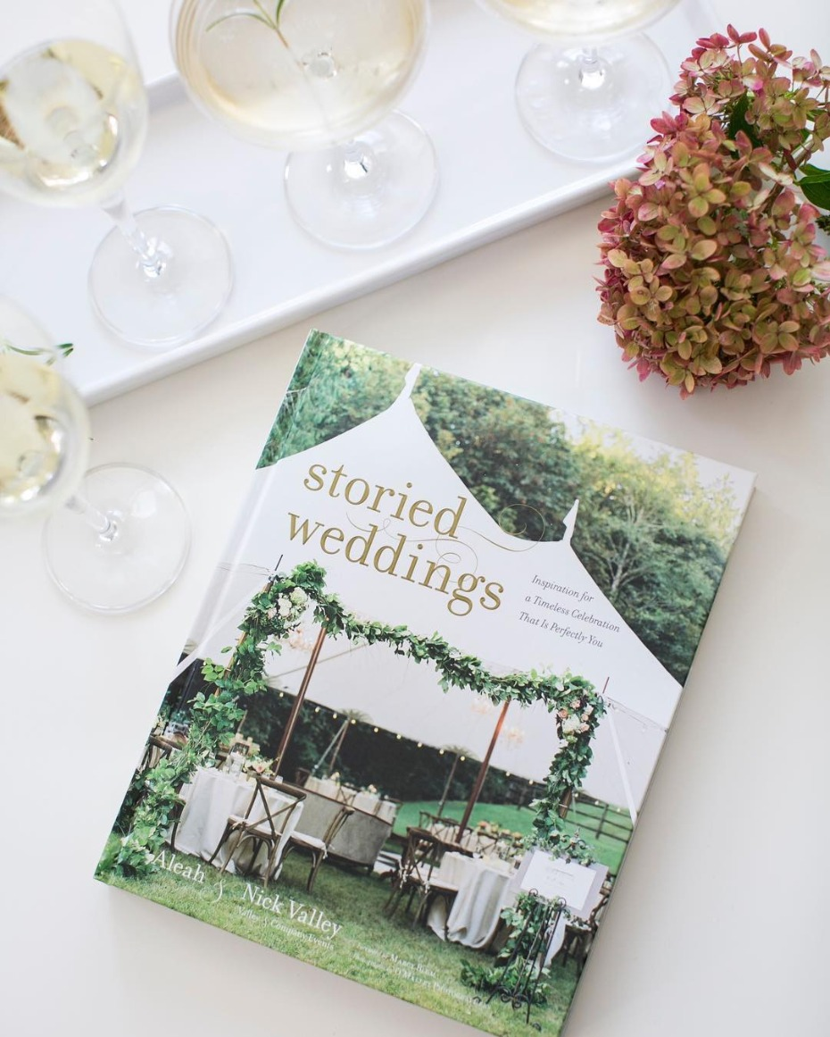 Storied Weddings Book Cover on Table