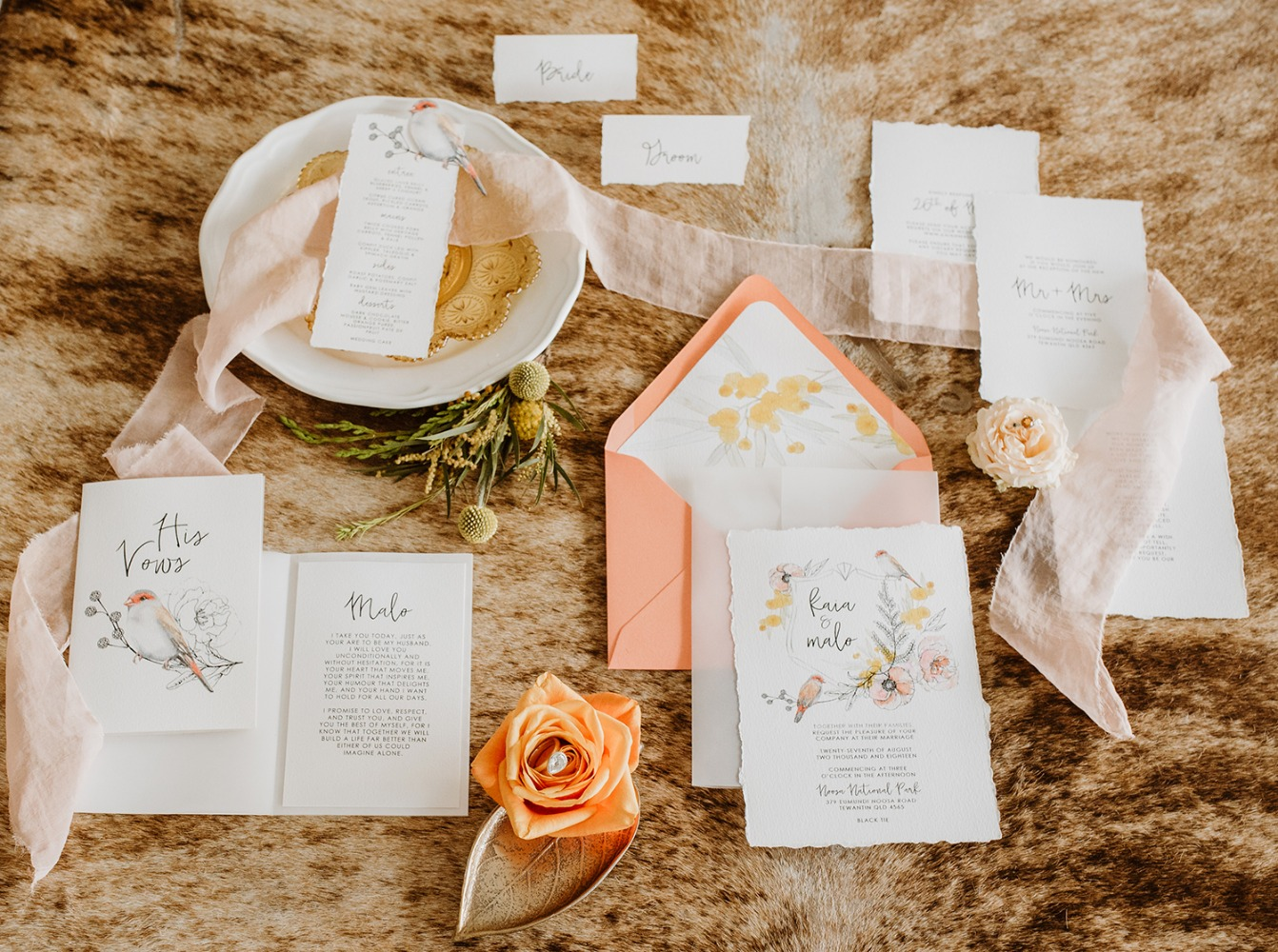 Bird invitation suite