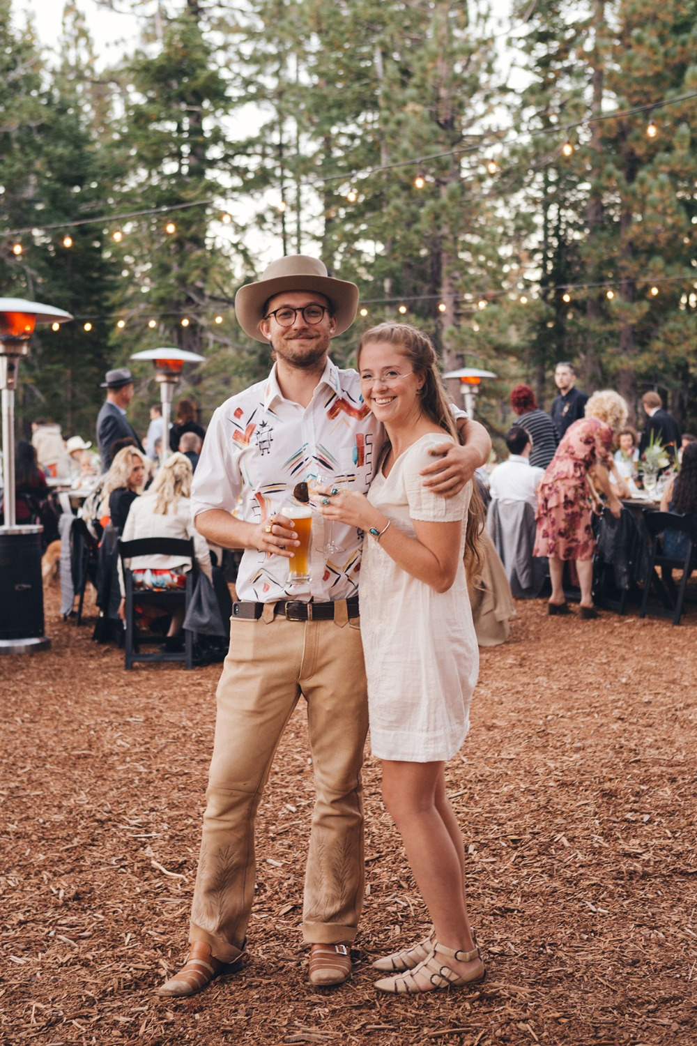 rustic laid back wedding guests