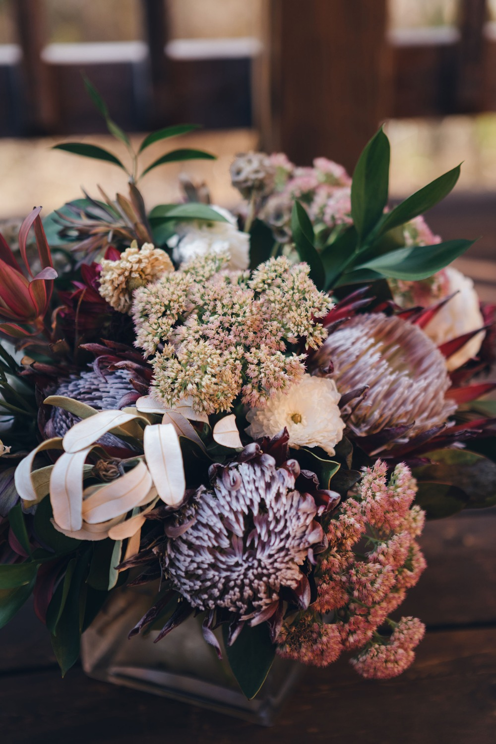 unique protea bouquet