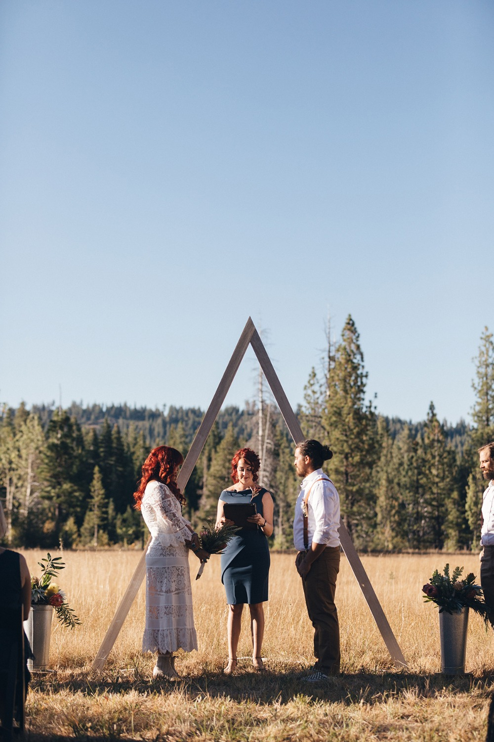 A Beautifully Informal Rustic New Age Wedding