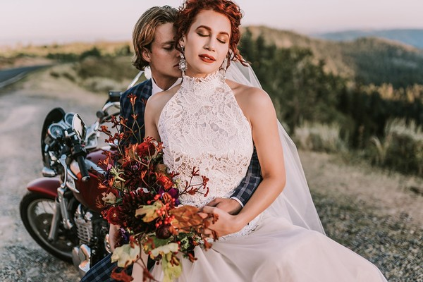 How to Style an After-Wedding Shoot Around a Motorcycle