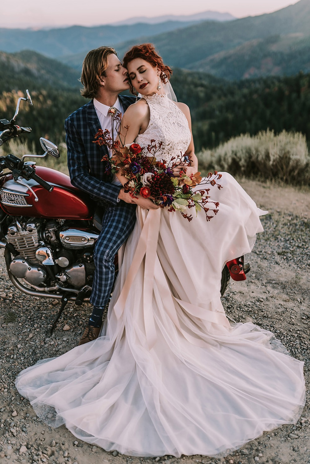 How To Style An After Wedding Shoot Around A Motorcycle