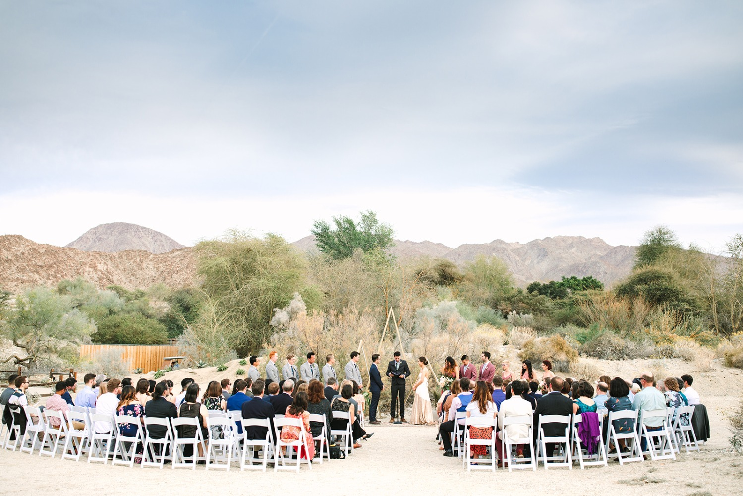 Palm Springs wedding at  Living Desert zoo