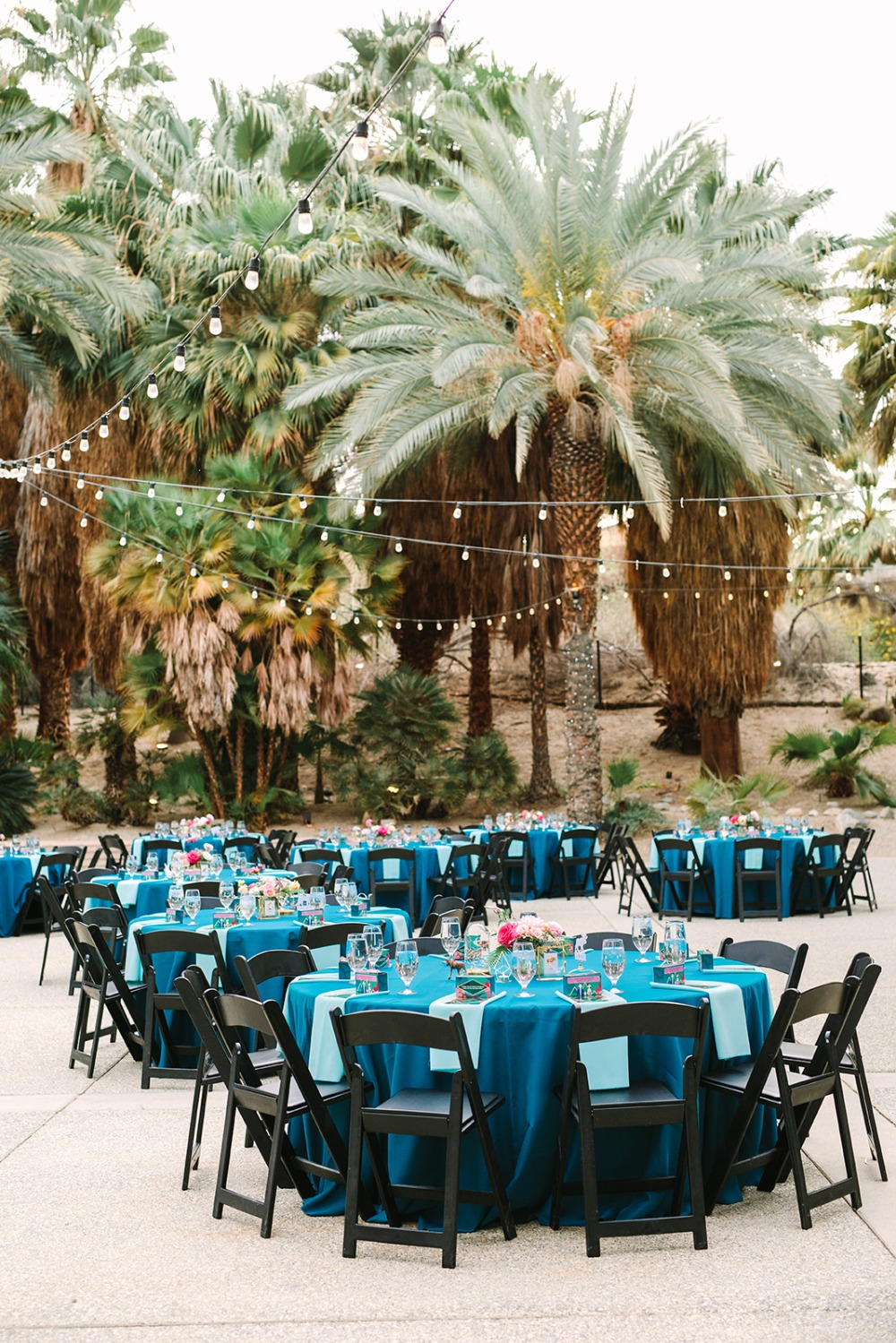Turquoise zoo wedding in Palm Springs