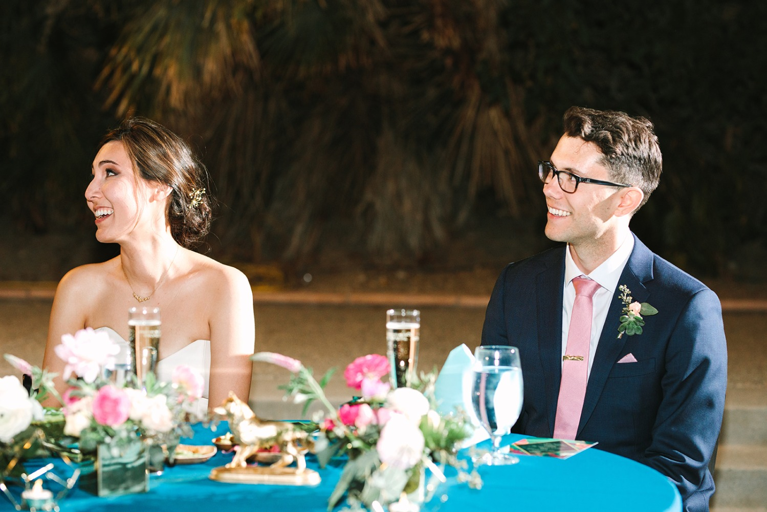 Cute zoo wedding in Palm Springs