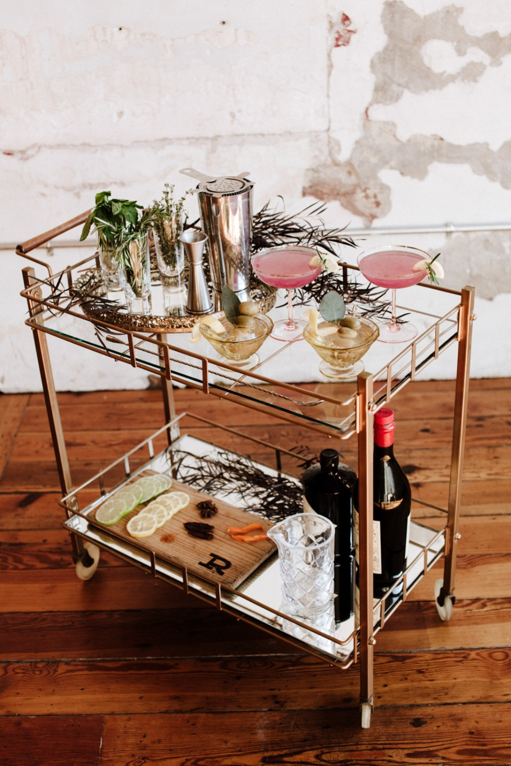 wedding drink cart