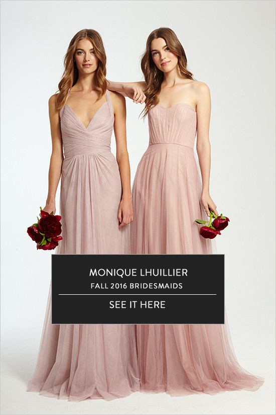 Monique Lhuillier Fall 2016 Bridesmaid Collection