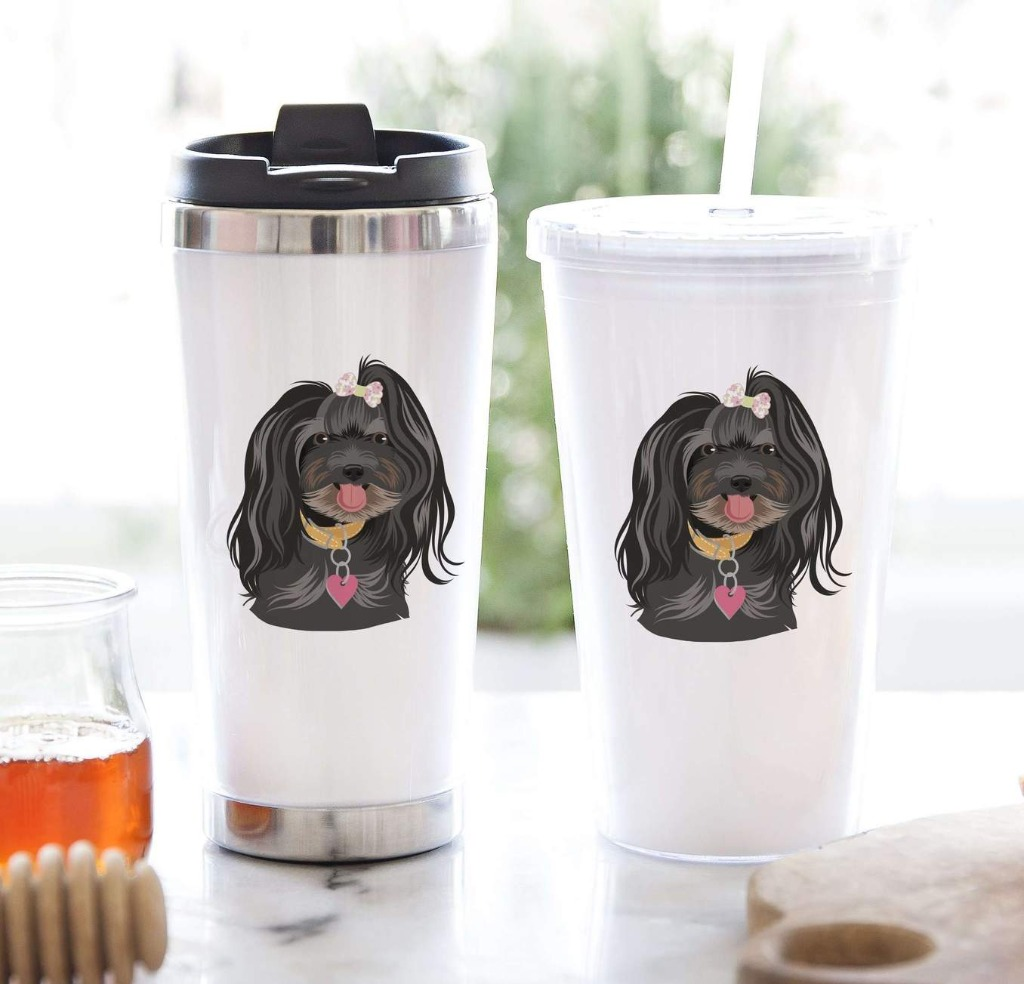 This amazing Tumbler Gift Set with Personalized Pet Portrait is the perfect gift, whether that's bridesmaid, groomsman, or even holiday