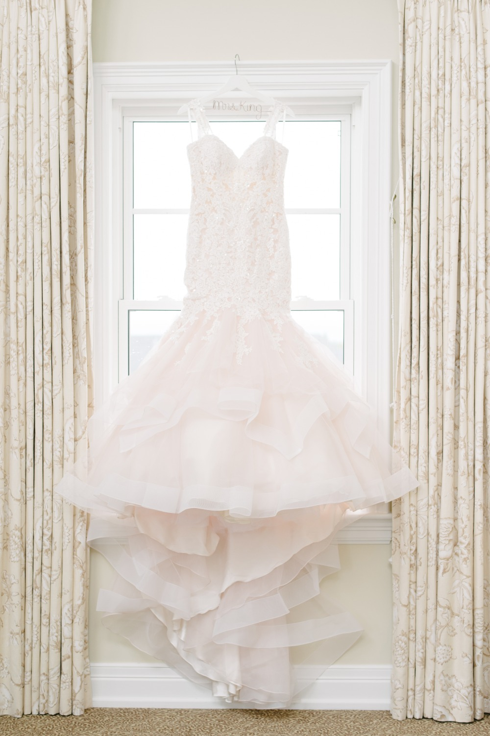 Morilee by Madeline Gardner blush wedding gown
