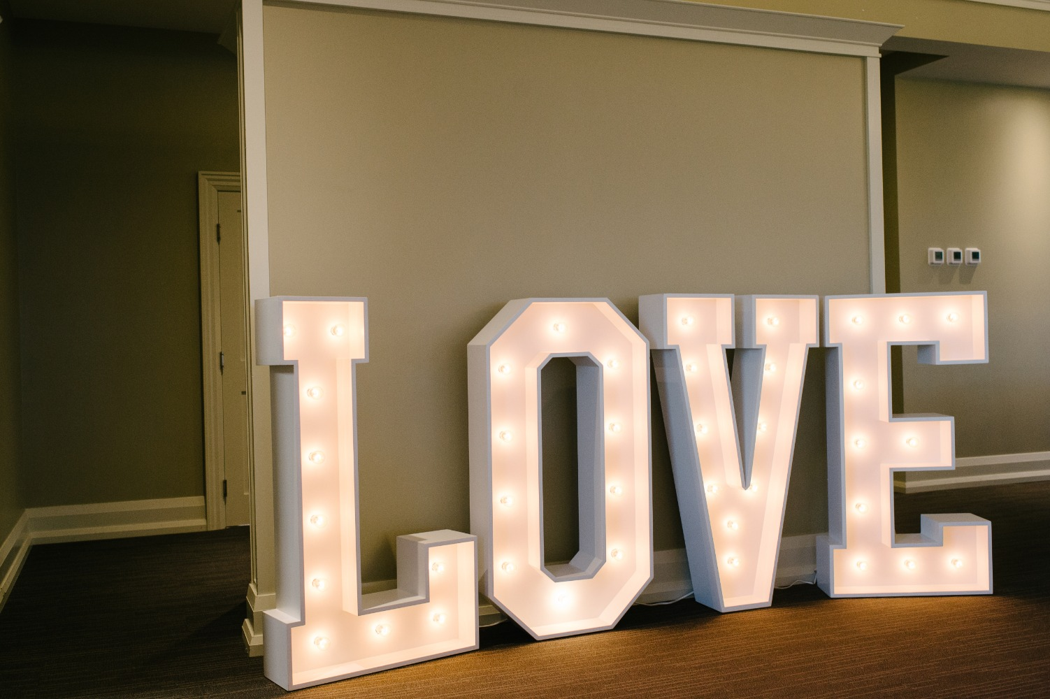 Marquee LOVE sign