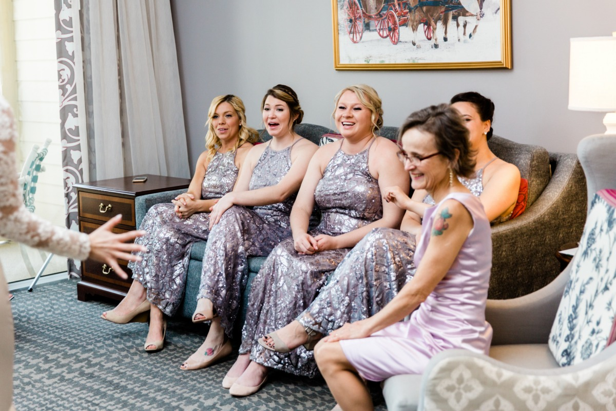 surprising the bridal party
