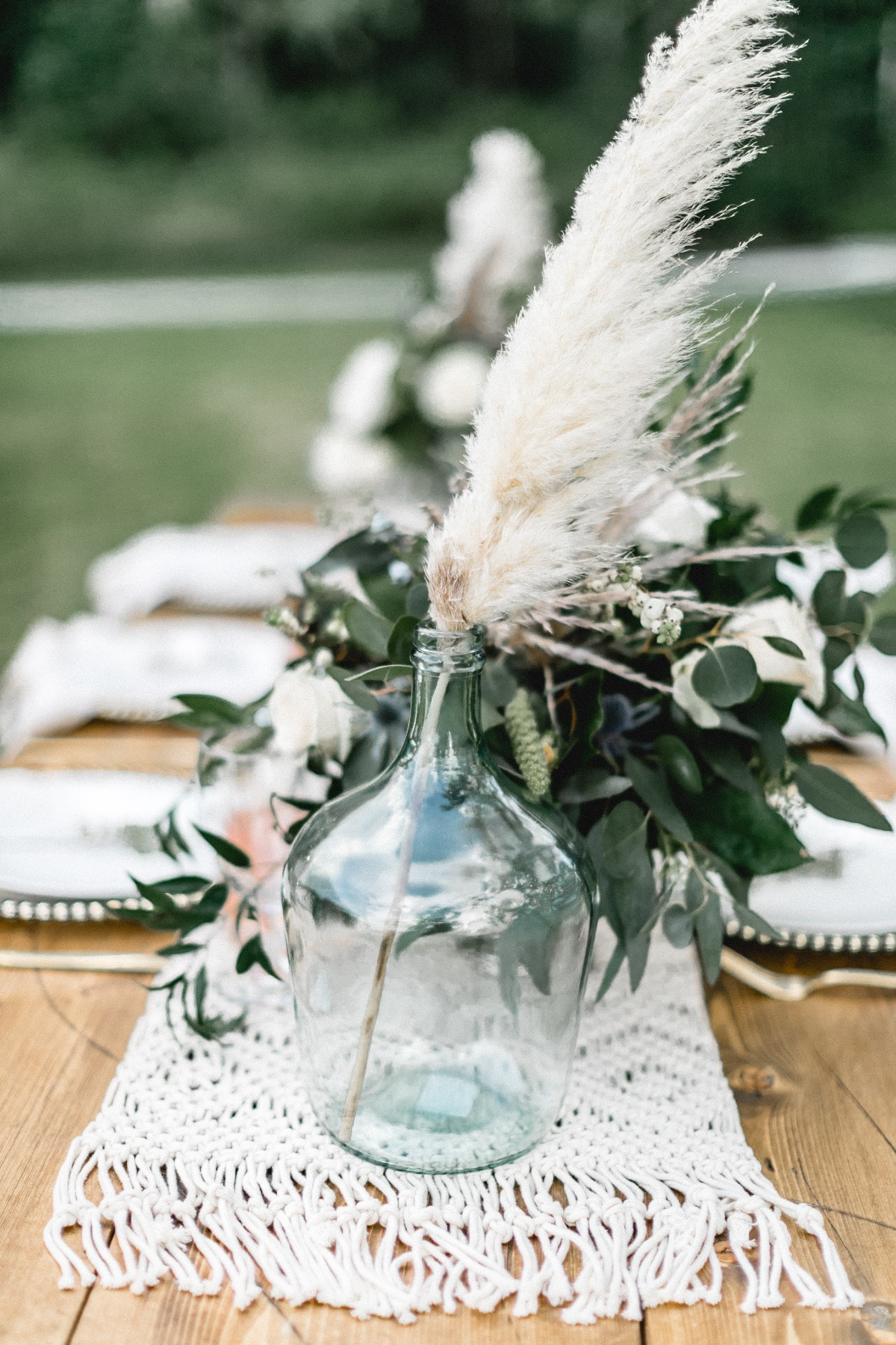 boho inspired wedding table