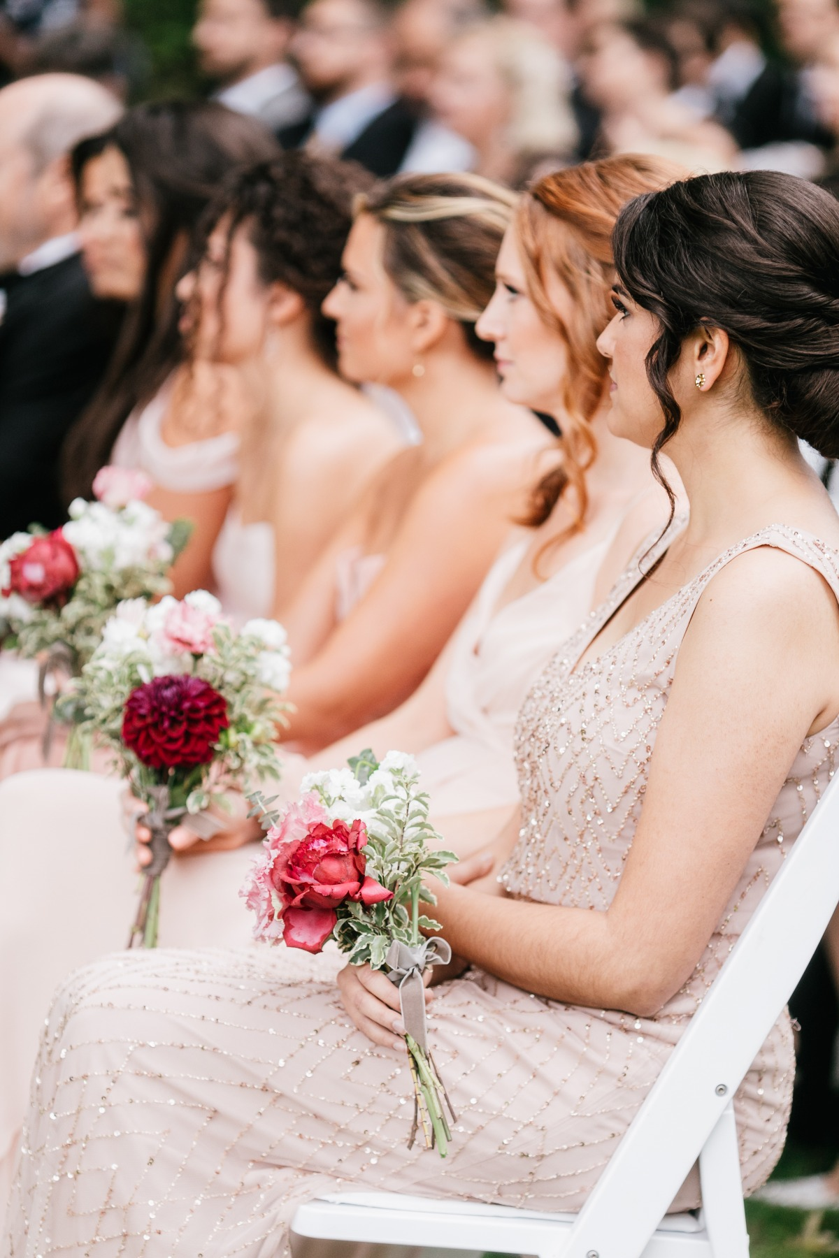 Bridemaids in blush