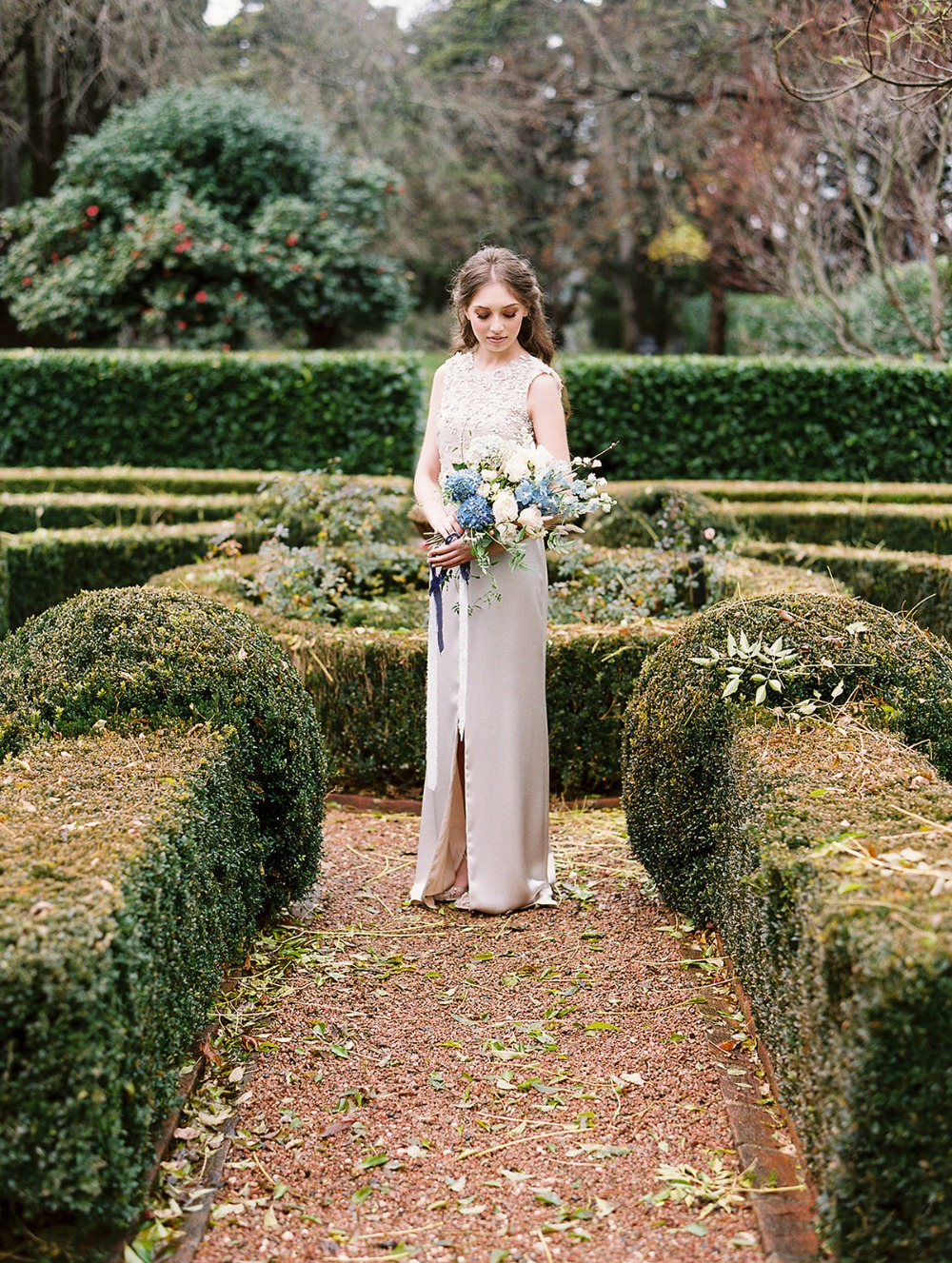 wedding maze bridal photo idea