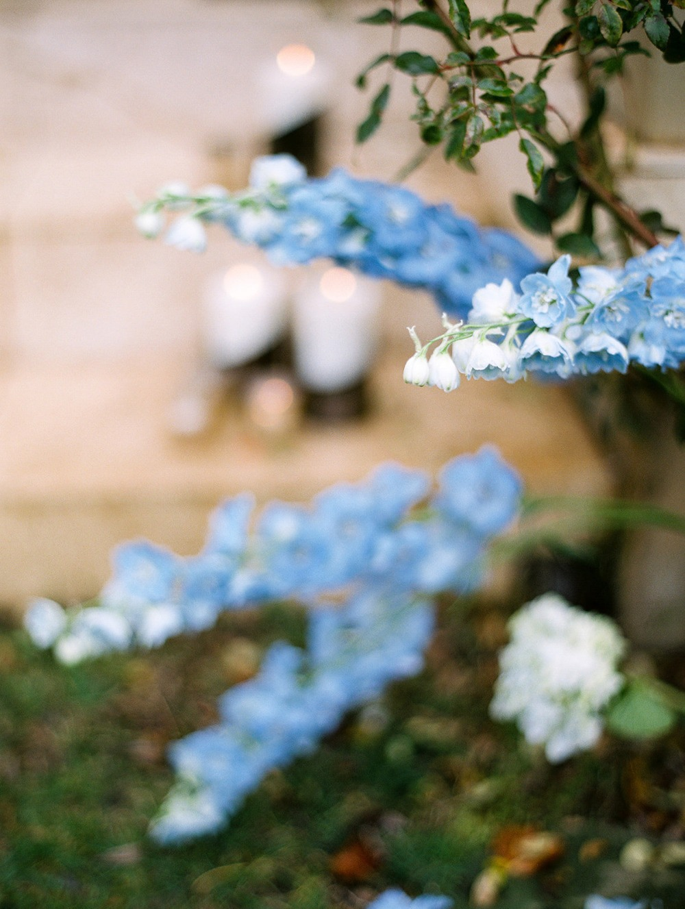 soft blue wedding flowers